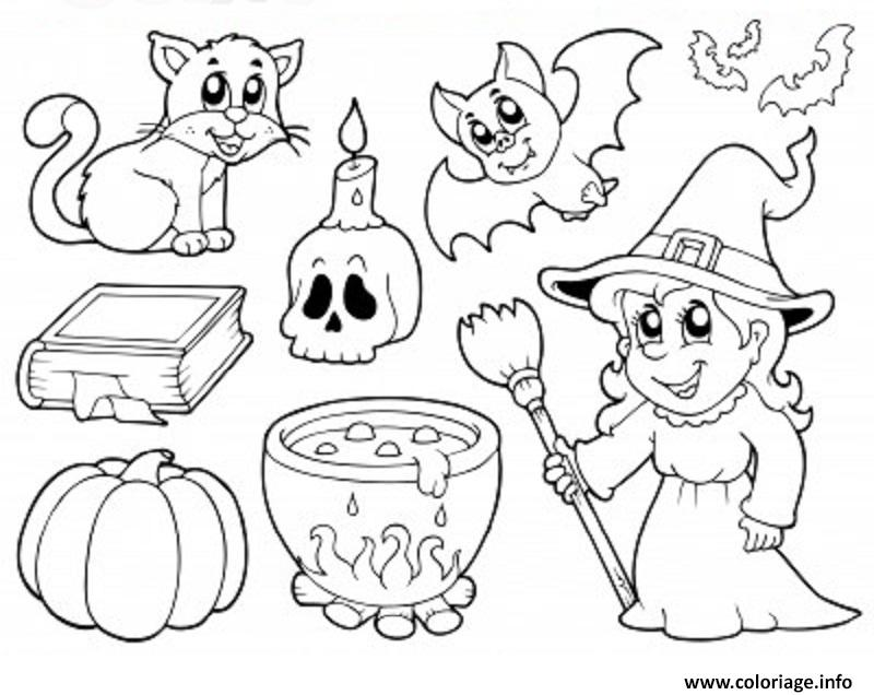 Coloriage Halloween Enfants Simple dessin