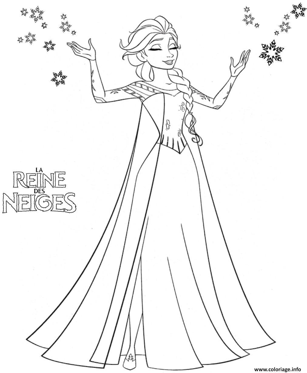 Dessin princesse elsa Coloriage Gratuit à Imprimer