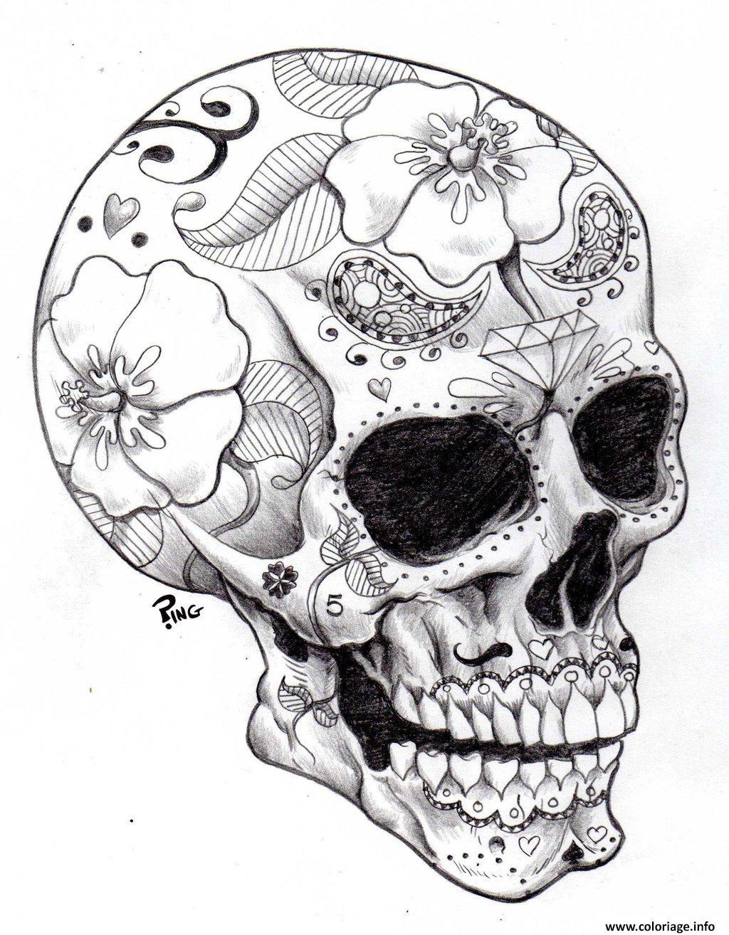 Dessin adulte halloween squelette 2 Coloriage Gratuit à Imprimer