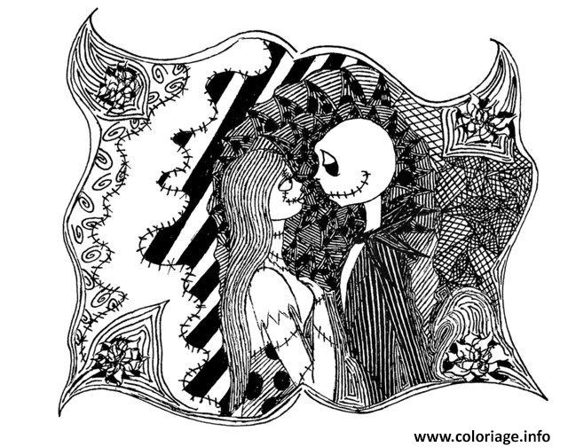 coloriage adulte halloween the nightmare avant noel