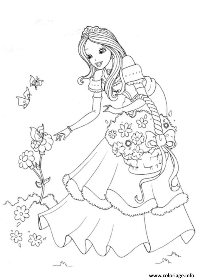 Coloriage disney princesse 5 dessin - Jeux de coloriage de princesses disney ...