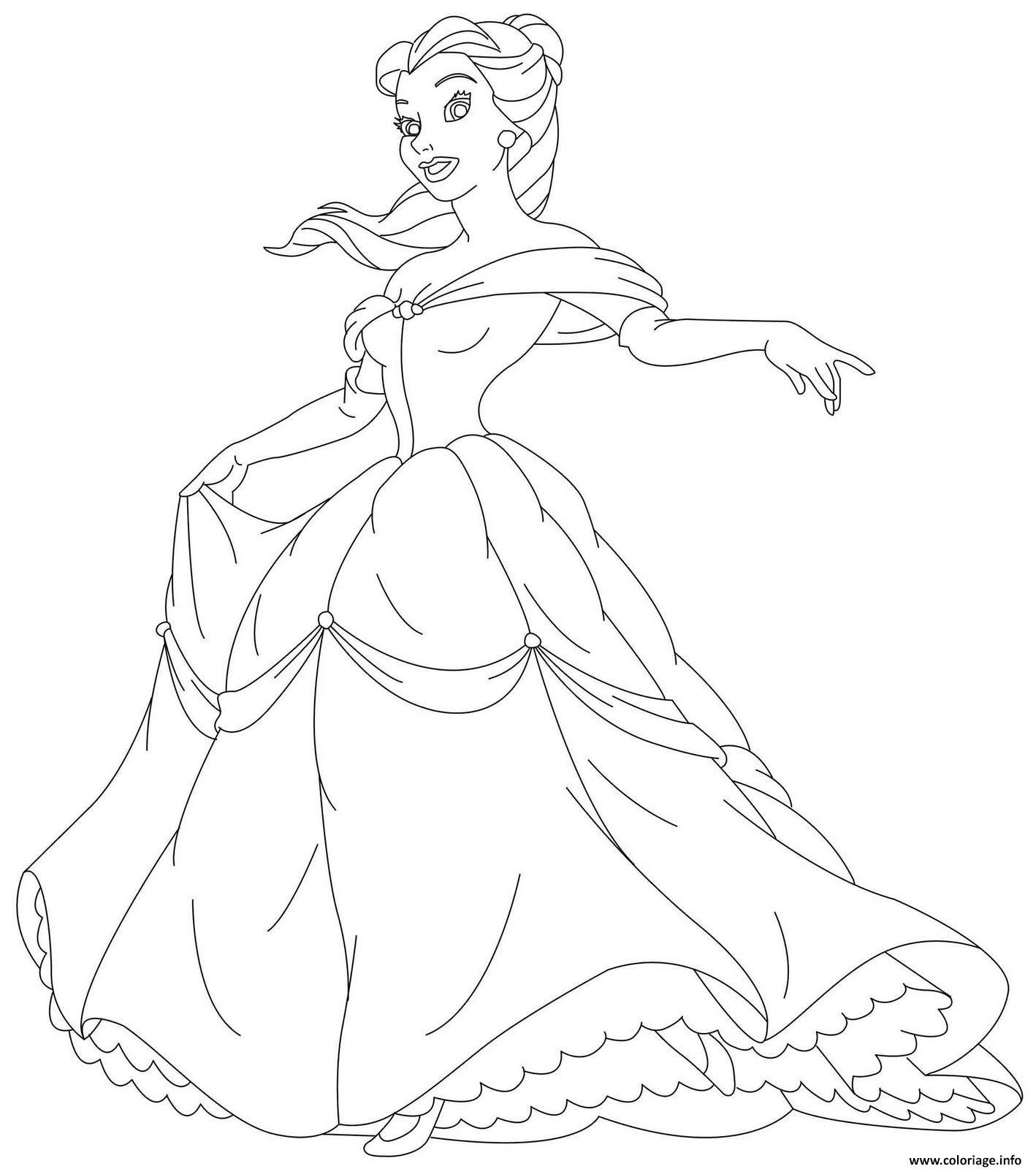 Coloriage Belle Et La Bete Princesse 7 Dessin Princesse A Imprimer