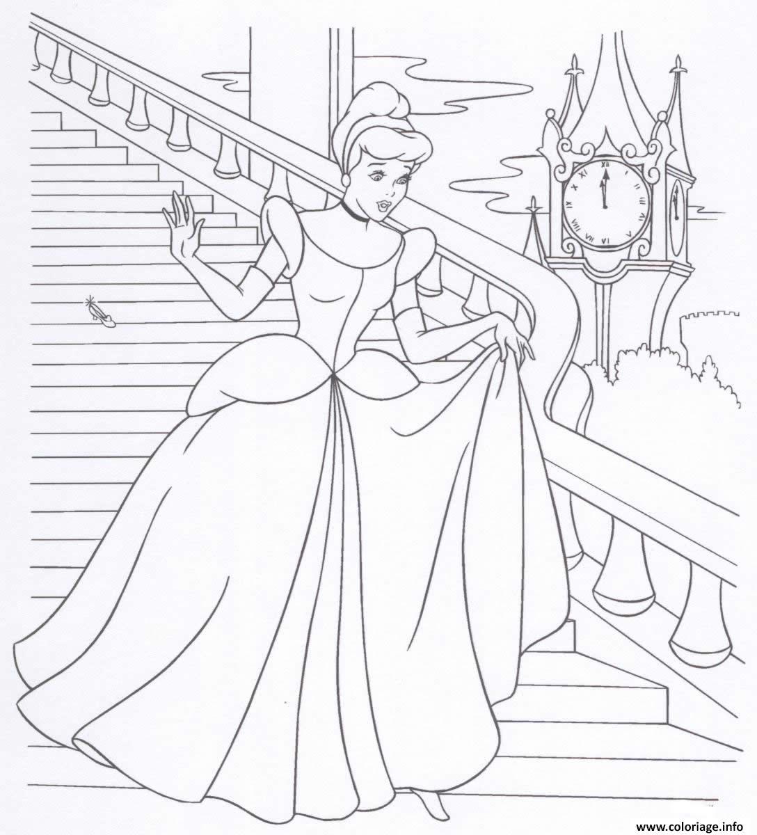 Coloriage cendrillon princesse 18 dessin - Princesse dessin ...