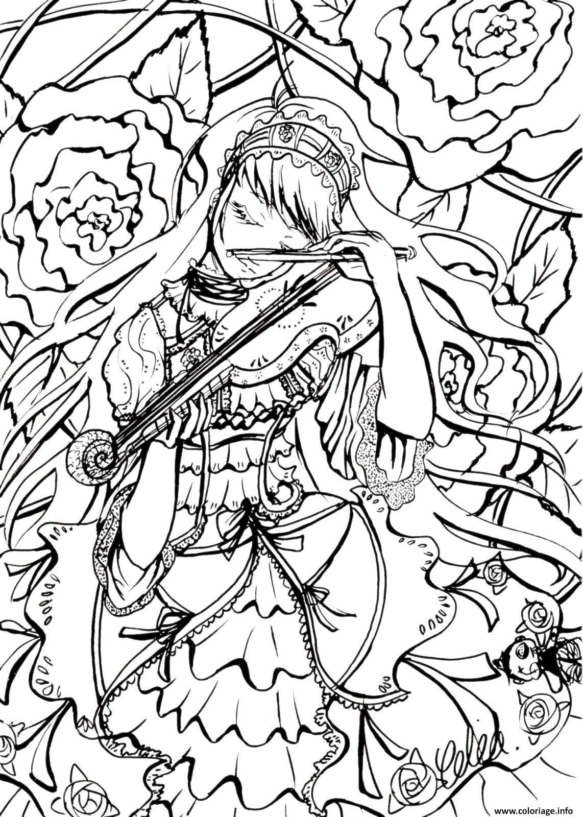 Coloriage complexe princesse dessin - Coloriage noel adulte imprimer ...