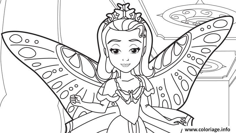Coloriage Princesse Disney Dessin
