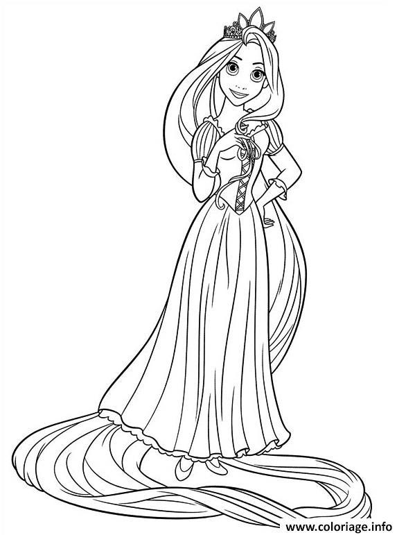 Coloriage Princesse Raiponce 15166 Jecolorie Com