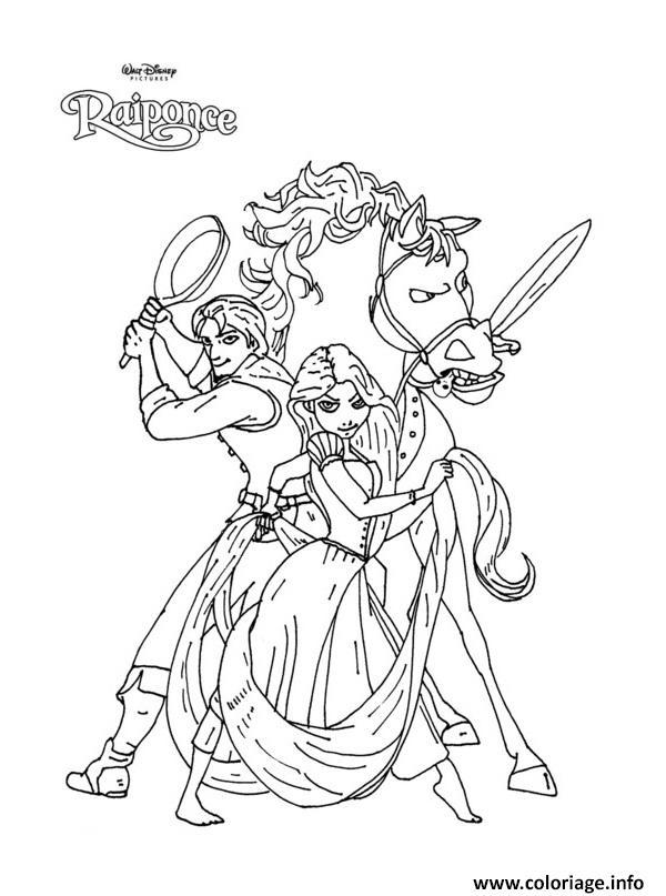 Coloriage Princesse Raiponce 13385 Dessin