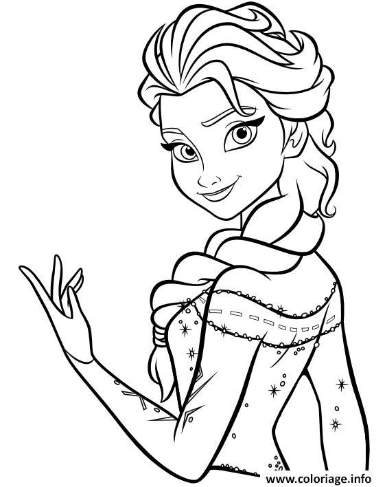Coloriage La Princesse Elsa Dessin Princesse A Imprimer