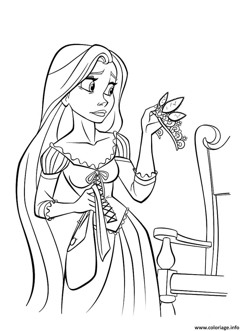 Coloriage princesse raiponce 10976 dessin - Coloriages a colorier ...