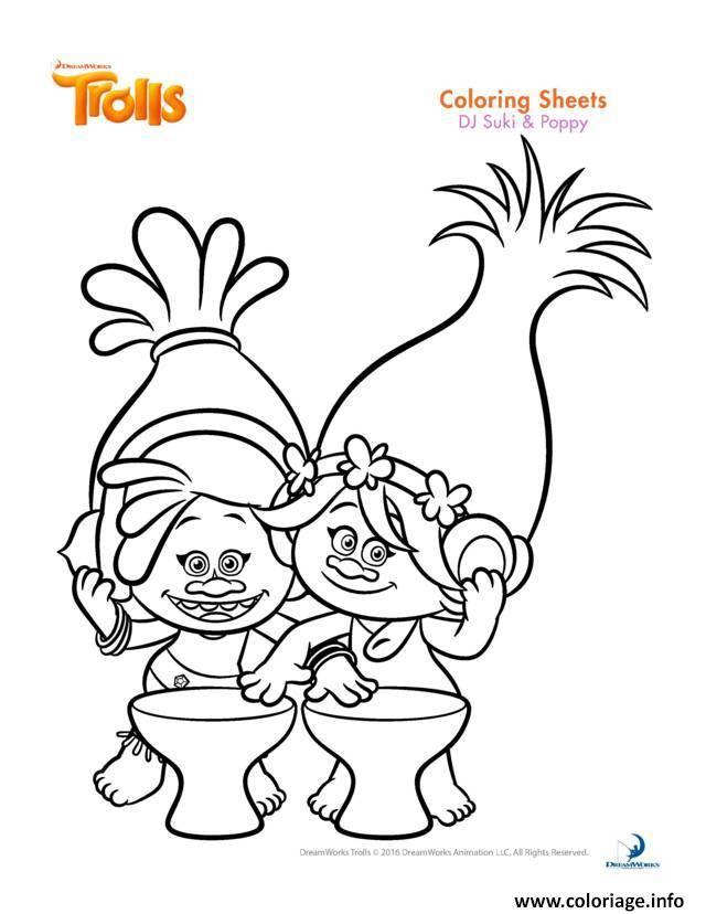 dessin a imprimer trolls