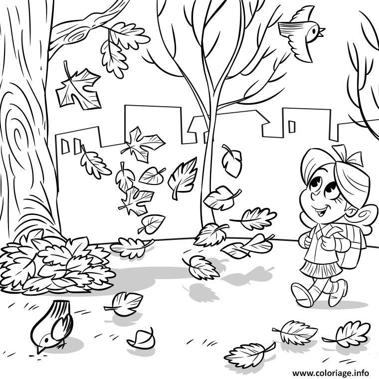 Coloriage novembre automne pour enfants dessin - Photo d automne gratuite ...