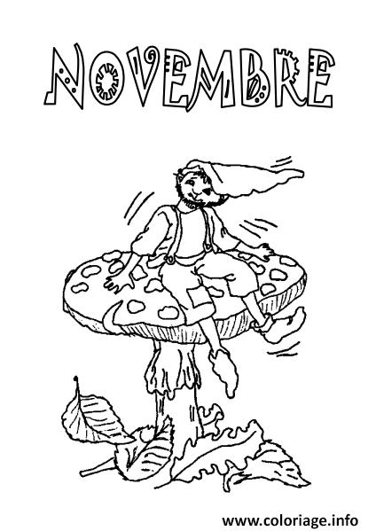 Coloriage novembre feuille automne dessin - Feuille de coloriage gratuit ...