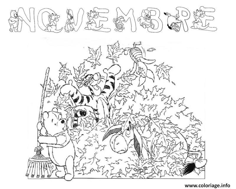 Dessin automne enfant novembre Coloriage Gratuit à Imprimer