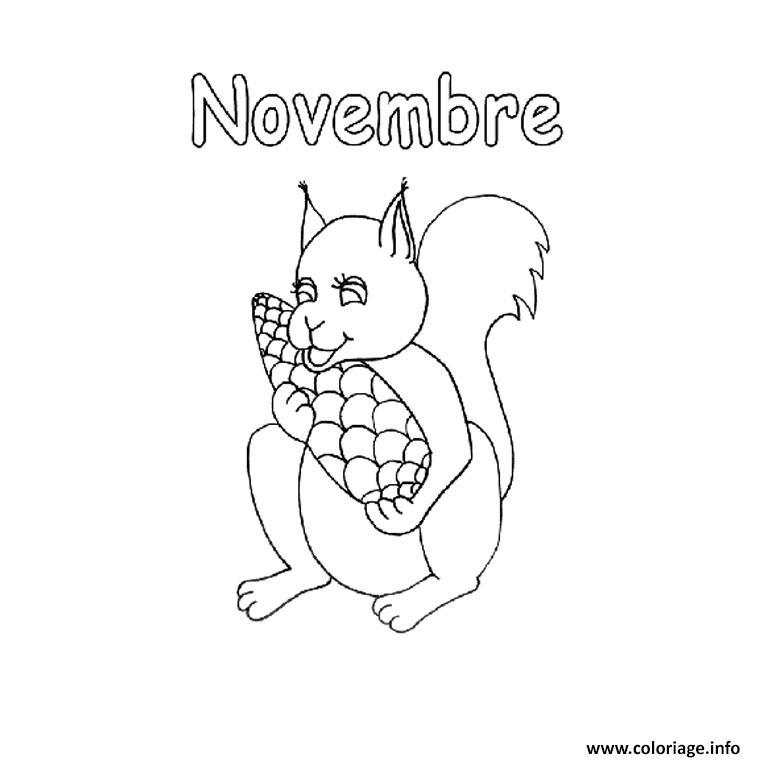 Dessin novembre automne Coloriage Gratuit à Imprimer