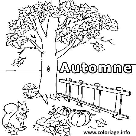 Coloriage novembre automne dessin - Coloriage saisons a imprimer ...
