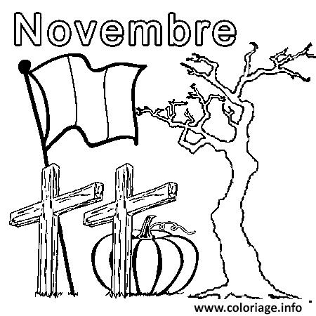 Dessin novembre Coloriage Gratuit à Imprimer