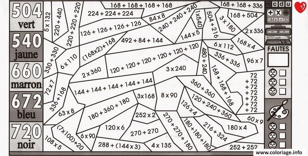 Coloriage magique addition 74 dessin - Coloriage mathematique ...