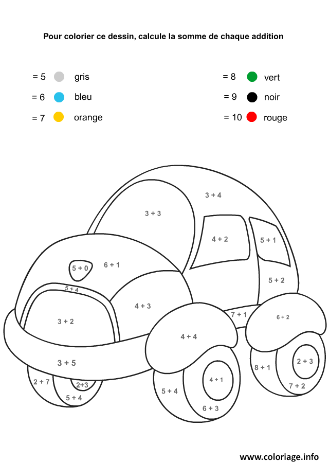 coloriage magique maternelle addition 23 dessin imprimer - Coloriage Magique Maternelle