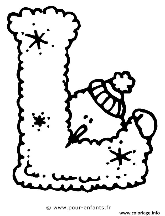Coloriage alphabet noel lettre l - Alphabet noel ...