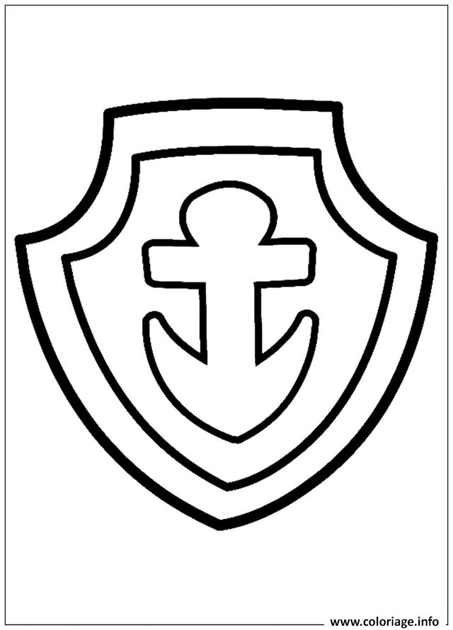 Coloriage pat patrouille ecusson dessin - Coloriage ecusson ...
