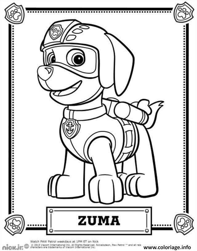 Coloriage Pat Patrouille Zuma Jecolorie Com