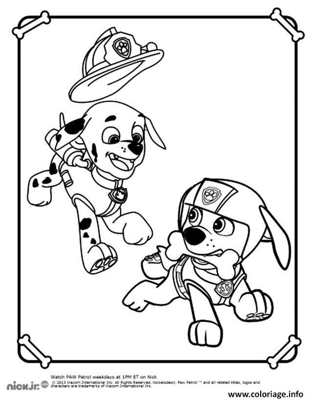 coloriage deux chiens a colorier pat patrouille dessin. Black Bedroom Furniture Sets. Home Design Ideas