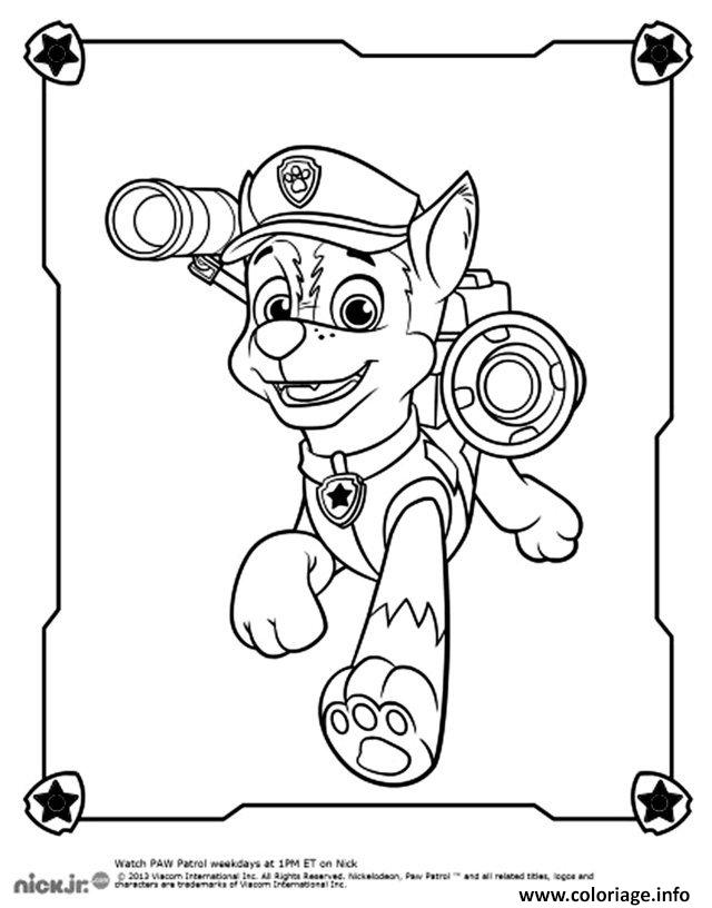 Coloriage Chien Policier Chase Berger Allemand Dessin