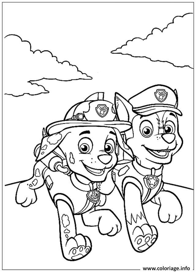 Coloriage pat patrouille les deux complices dessin - Pat patrouille coloriage ...