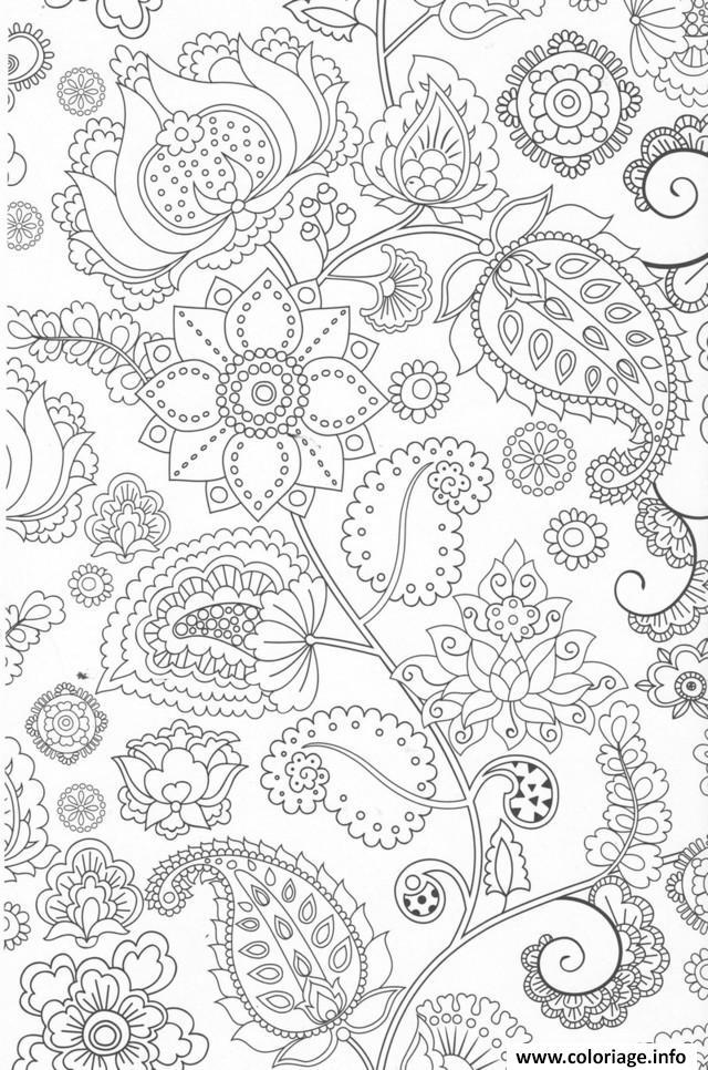 coloriage anti stress fleurs adulte dessin imprimer - Dessins Anti Stress