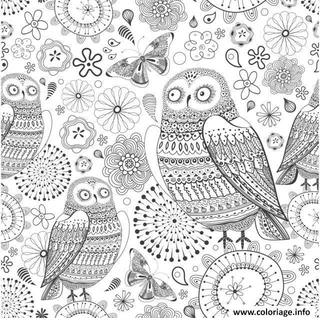 coloriage anti stress animaux fleurs dessin imprimer - Coloriage Anti Stress En Ligne