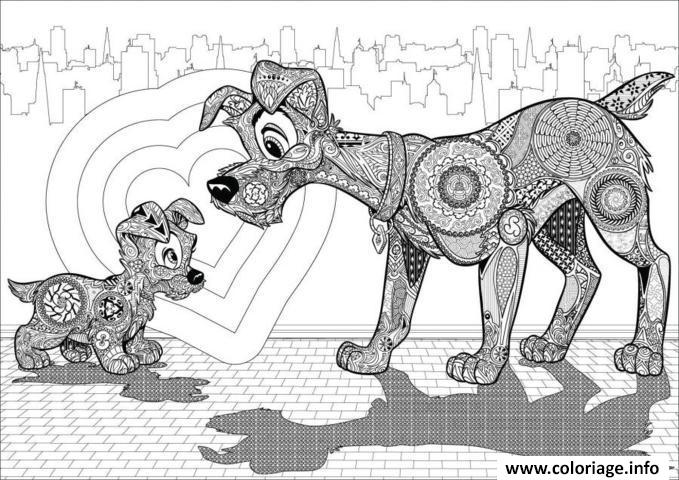 coloriage anti stress disney puppies