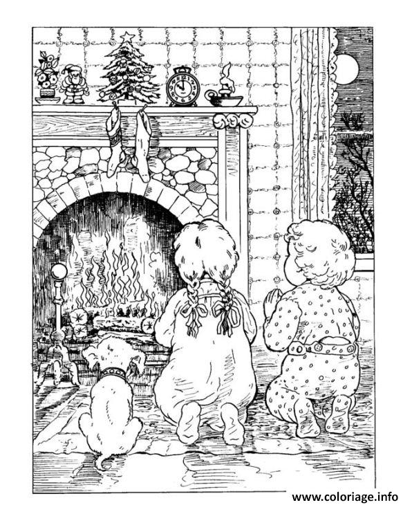Souvent Coloriage Noel Adulte Traditionnel 04 dessin NA06