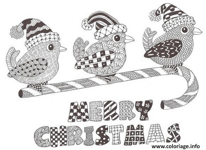 Coloriage Adulte Noel Joyeux Noel Dessin