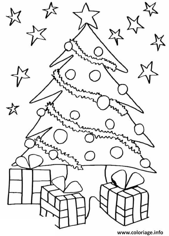 Coloriage Sapin De Noel 16 dessin