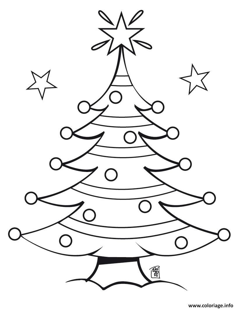 Coloriage Sapin De Noel 6 Dessin
