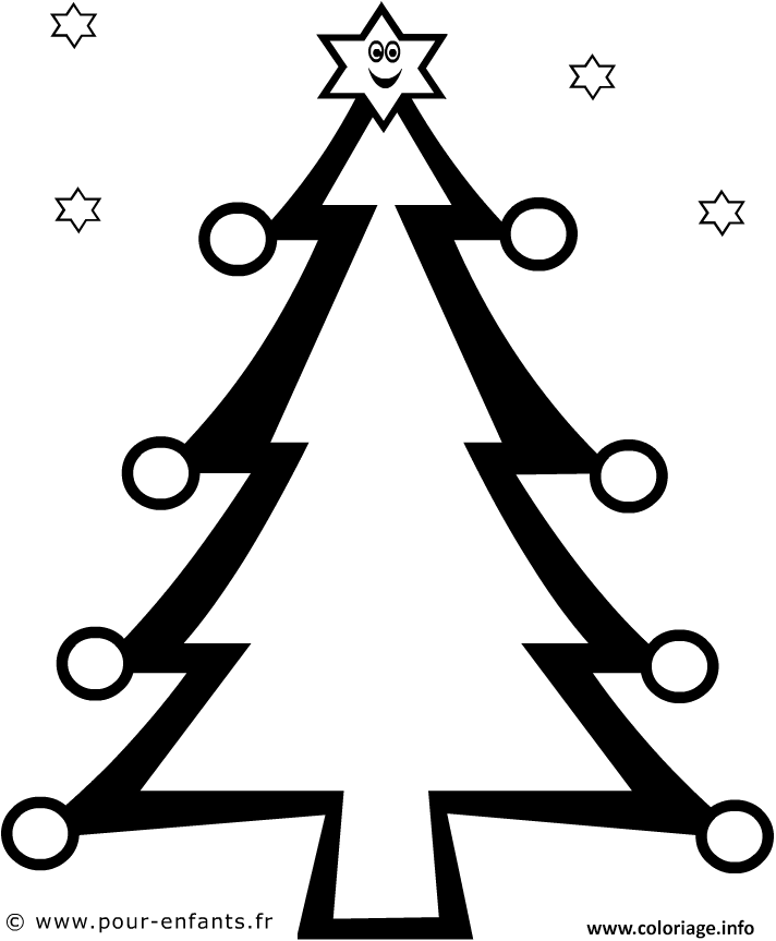 Coloriage Sapin De Noel Pour Enfant Dessin Sapin Noel à ...
