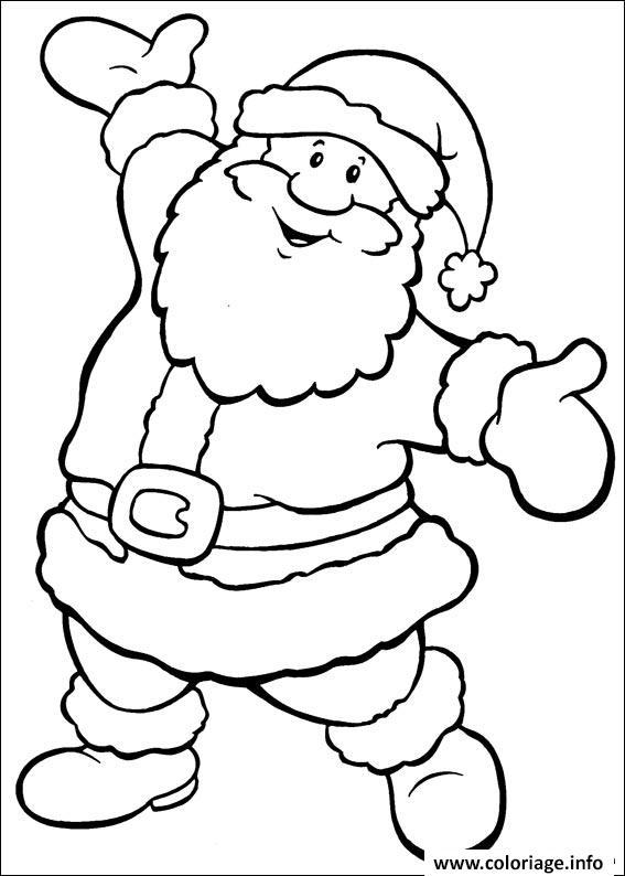 Coloriage Pere Noel 6 Dessin Pere Noel à imprimer