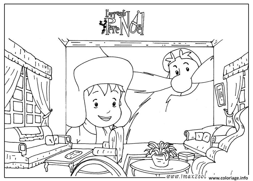 Coloriage L Apprenti Pere Noel dessin