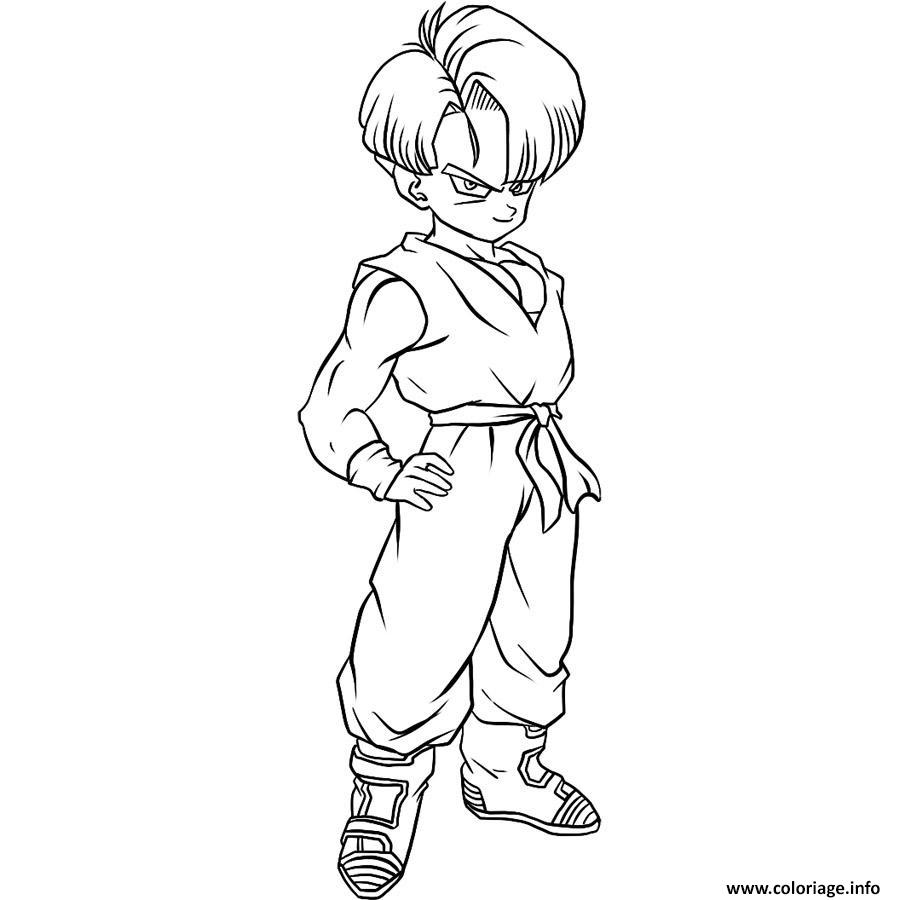 Dessin Dragon Ball Super Trunks