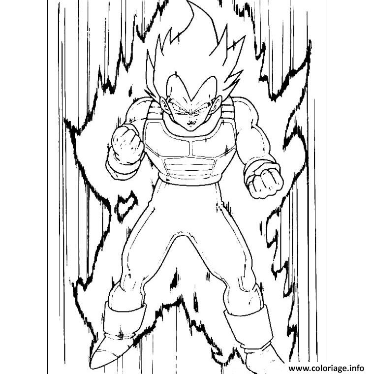 Coloriage vegeta dragon ball z 193 dessin - Dessin dragon ball z facile ...