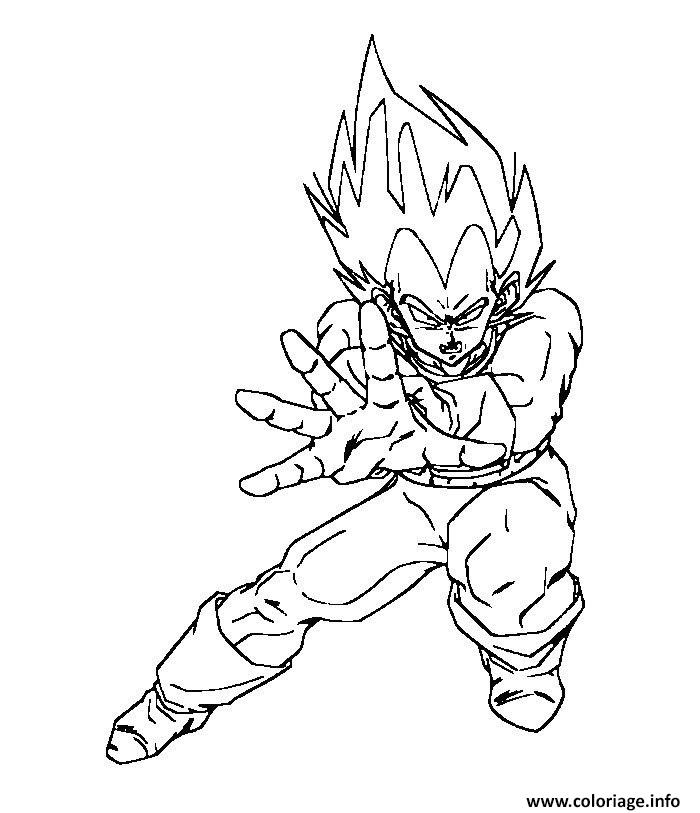 Coloriage vegeta force dragon ball z 127 dessin - Dessin de vegeta ...