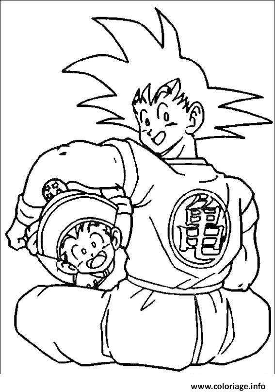 Coloriage Goku With His Kid Dragon Ball Z 37 Jecolorie Com