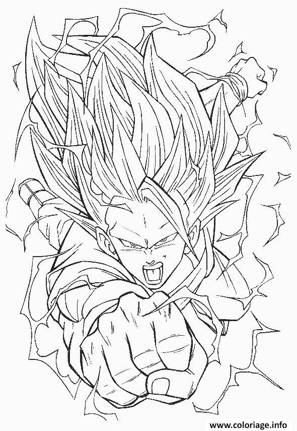 Coloriage Dragon Ball Z 22 Dessin à Imprimer