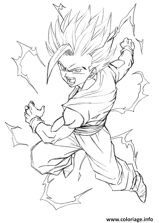 Coloriage dragon ball z 99 dessin - Dessin dragon ball z facile ...