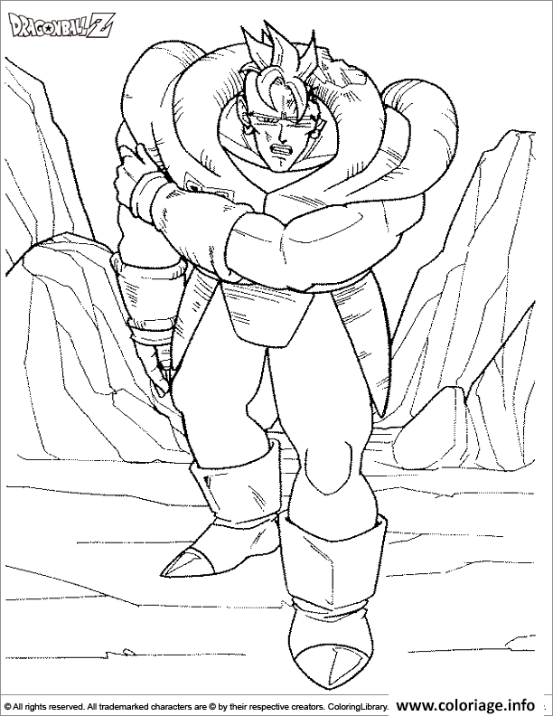 Coloriage dragon ball z 187 dessin - Coloriage gratuit dragon ball z ...