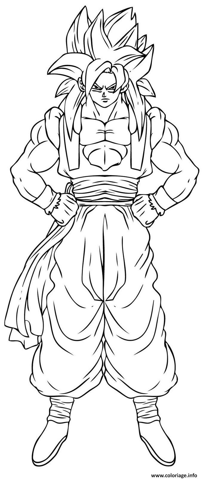 Coloriage Dragon Ball Z 143 Dessin à Imprimer