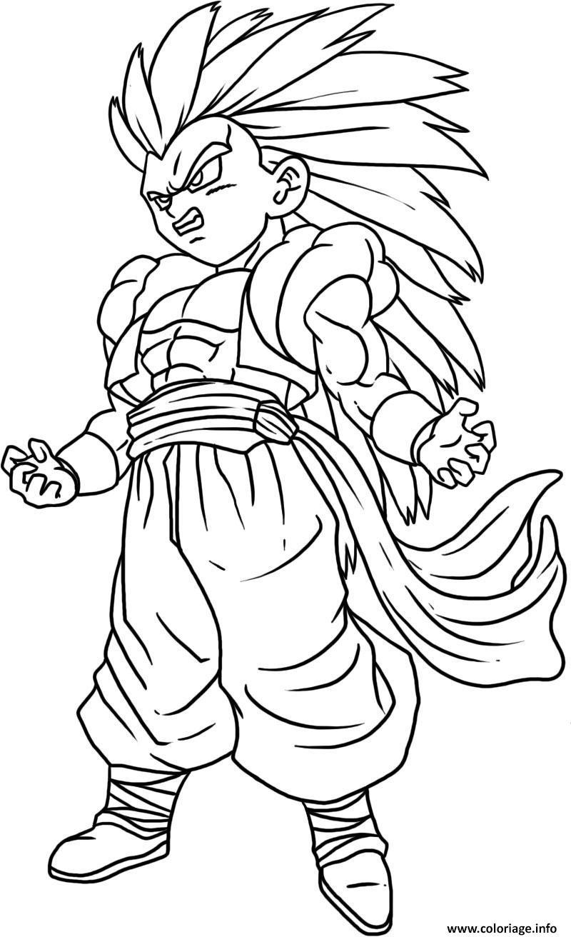 Coloriage Dragon Ball Z 185 dessin
