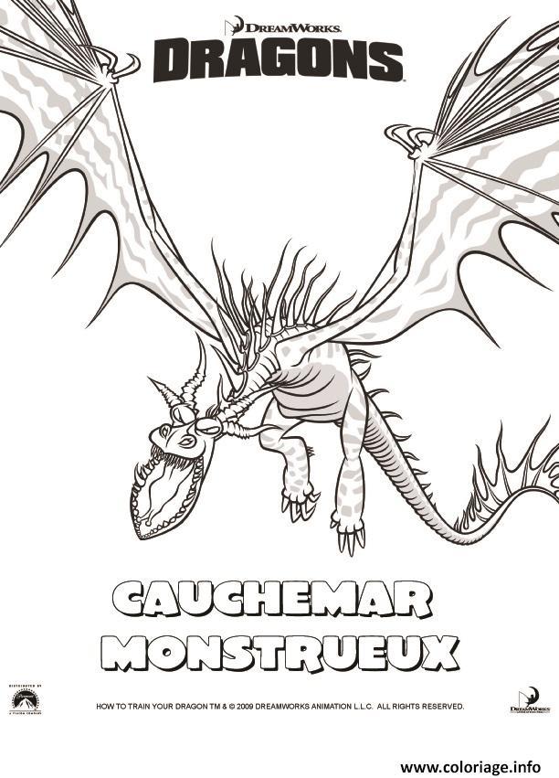 Coloriage dragons le film cauchemar monstrueux dessin - Imprimer dragon ...