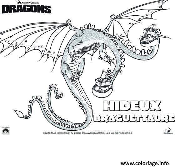 Coloriage Dragons Le Film Dragon Hideux dessin