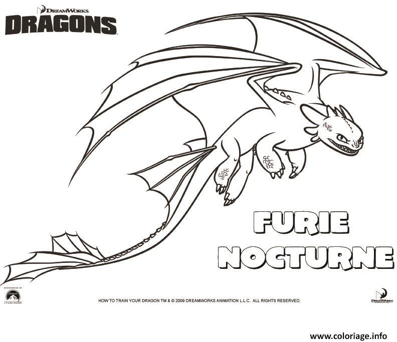 Coloriage dragons le film furie nocturne dessin - Dessin a imprimer dragon ...